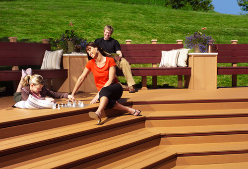 J D Construction can provide a variety of wood and composite deck styles and shapes.